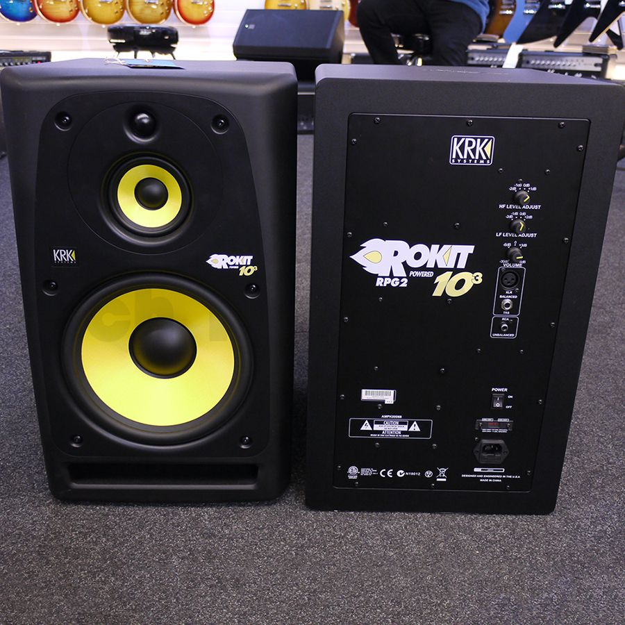 krk rokit 10 3 g2 studio monitor pair ex demo rich tone music. Black Bedroom Furniture Sets. Home Design Ideas