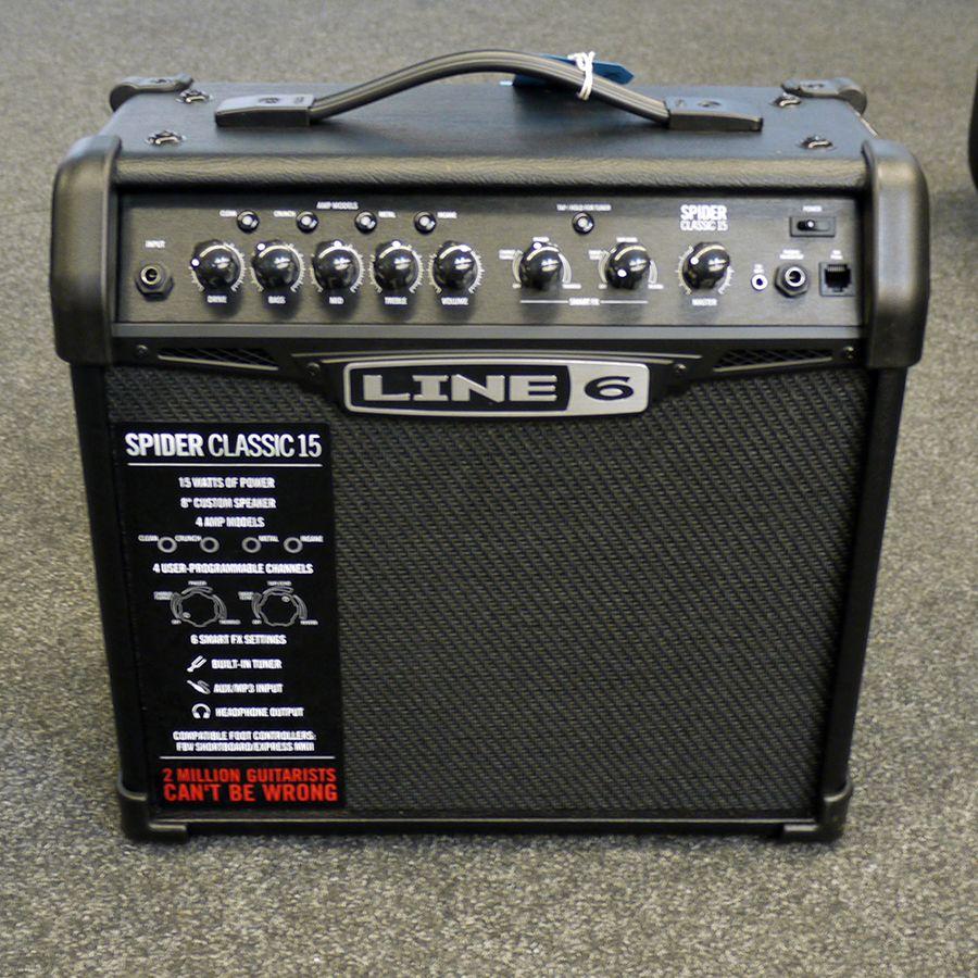 line 6 spider classic 15 watt guitar combo amplifier ex demo rich tone music. Black Bedroom Furniture Sets. Home Design Ideas