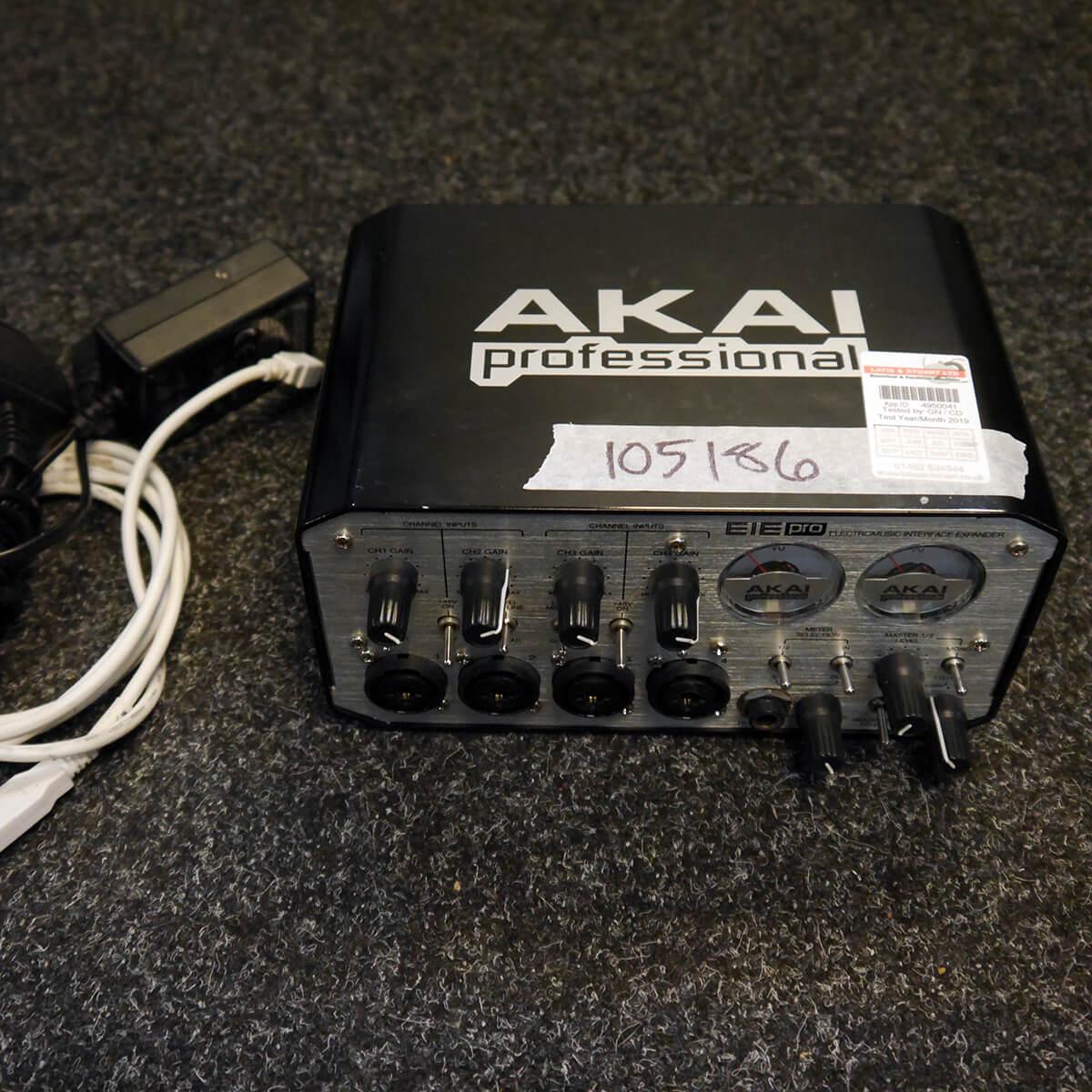 AKAI EIE Pro USB Audio Interface w/PSU & USB Cable - 2nd Hand
