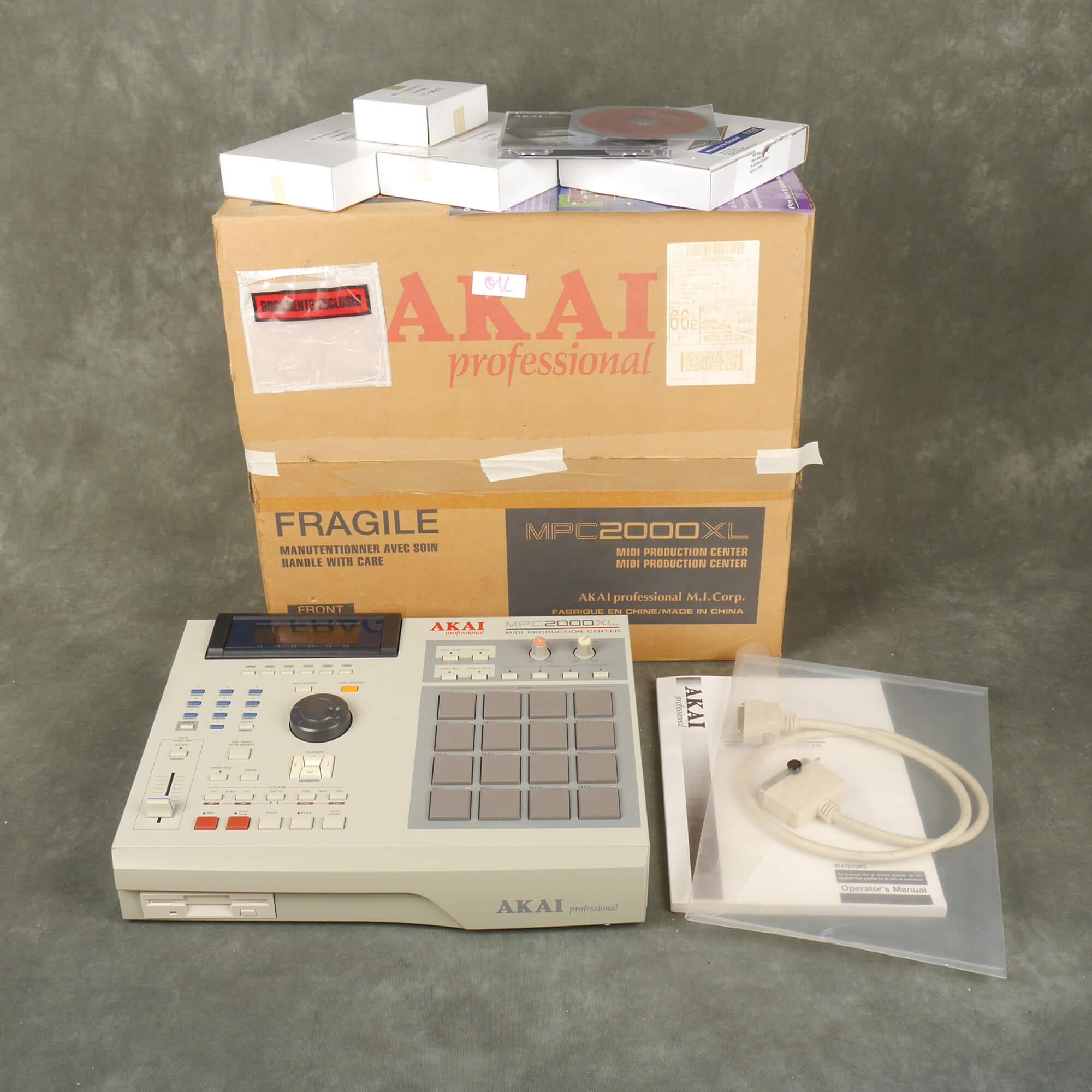 Akai MPC 2000XL Music Production Center, Upgraded w/Box - 2nd Hand