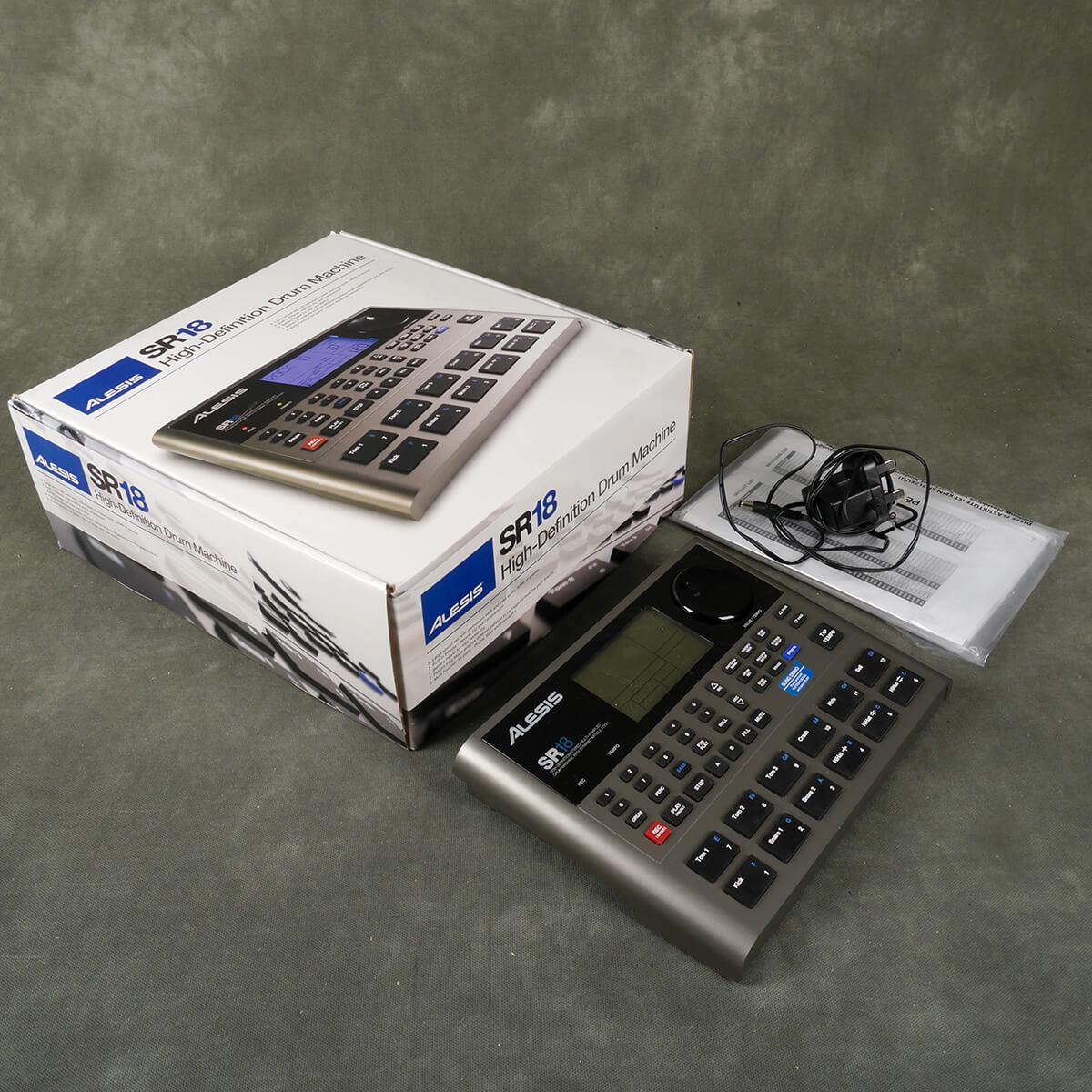Alesis SR18 Drum Machine w/Box & PSU - 2nd Hand