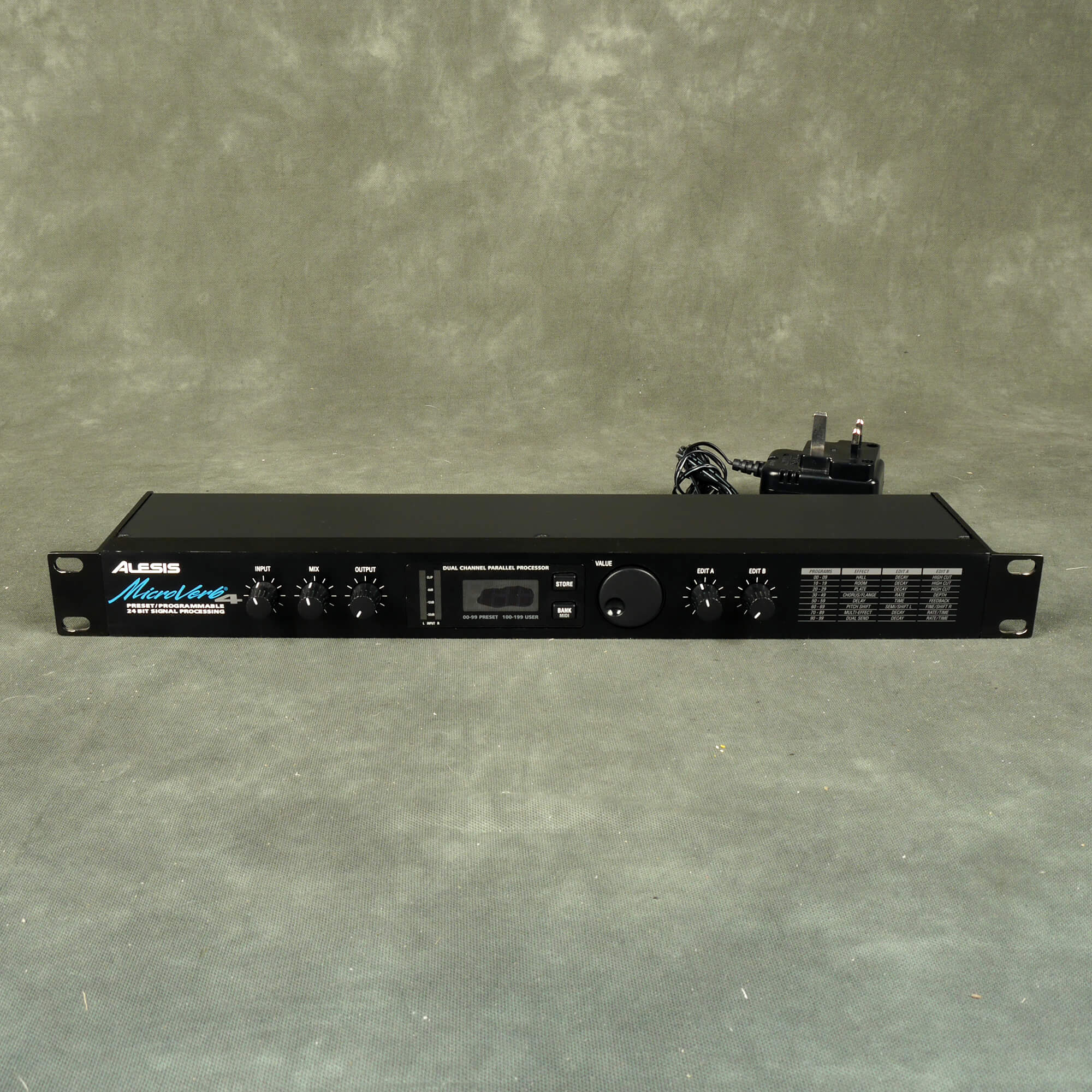 Alesis Microverb 4 Multi FX Rack Unit - 2nd Hand