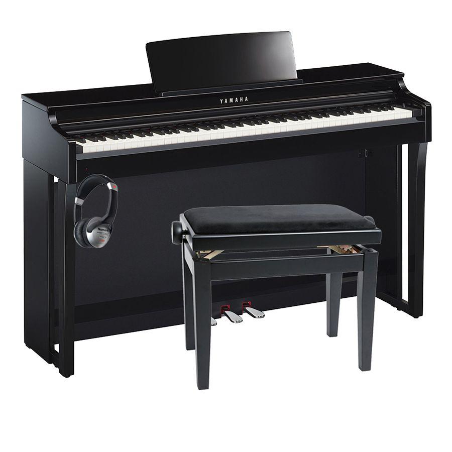 Yamaha clavinova clp 625 digital piano polished ebony for Yamaha clp 625