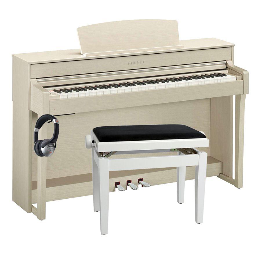 Yamaha clavinova clp 645 digital piano white ash for Yamaha digital piano philippines