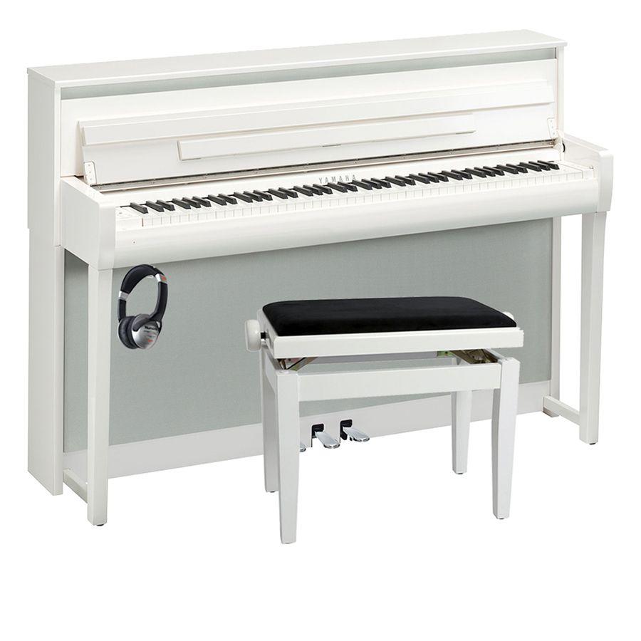 yamaha clavinova clp 685 digital piano polished white. Black Bedroom Furniture Sets. Home Design Ideas