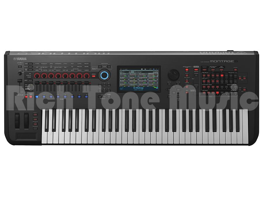 yamaha montage 6 music synthesizer 61 fsx keyboard rich. Black Bedroom Furniture Sets. Home Design Ideas