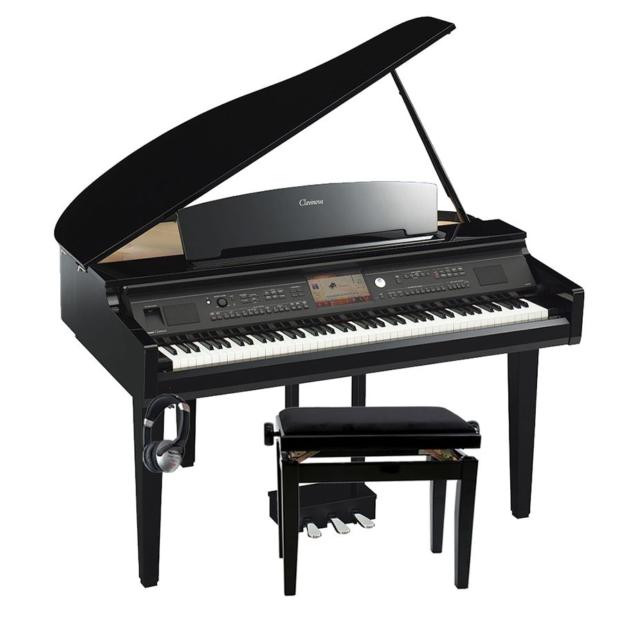 yamaha clavinova cvp 709gp digital piano polished ebony package rich tone music. Black Bedroom Furniture Sets. Home Design Ideas