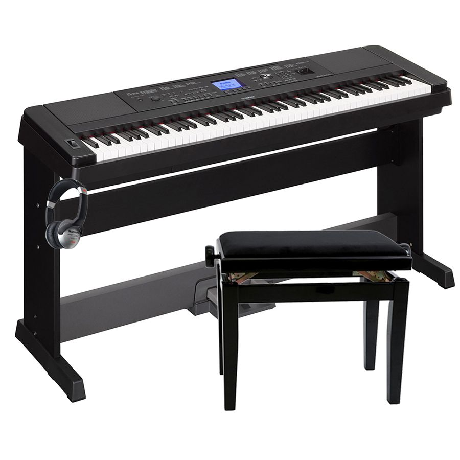 yamaha dgx 660 portable grand piano black package. Black Bedroom Furniture Sets. Home Design Ideas