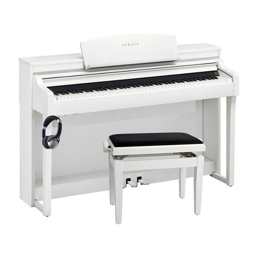 yamaha clavinova csp 170 digital piano white package rich tone music. Black Bedroom Furniture Sets. Home Design Ideas