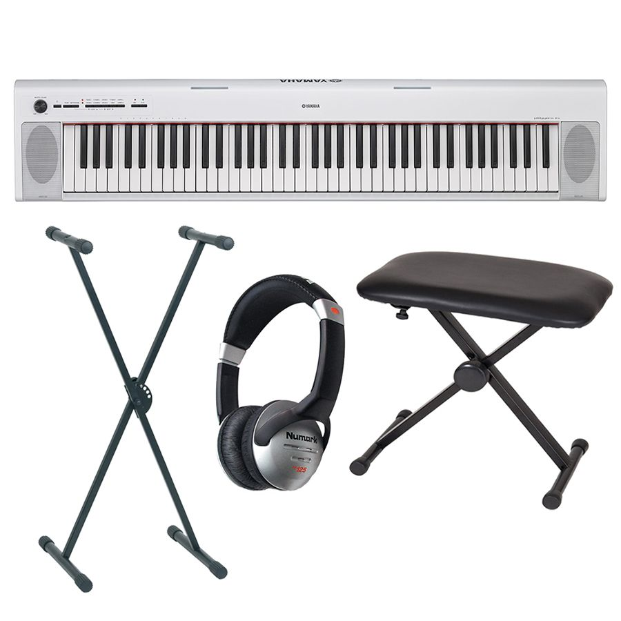 yamaha piaggero np 32 portable keyboard white package. Black Bedroom Furniture Sets. Home Design Ideas