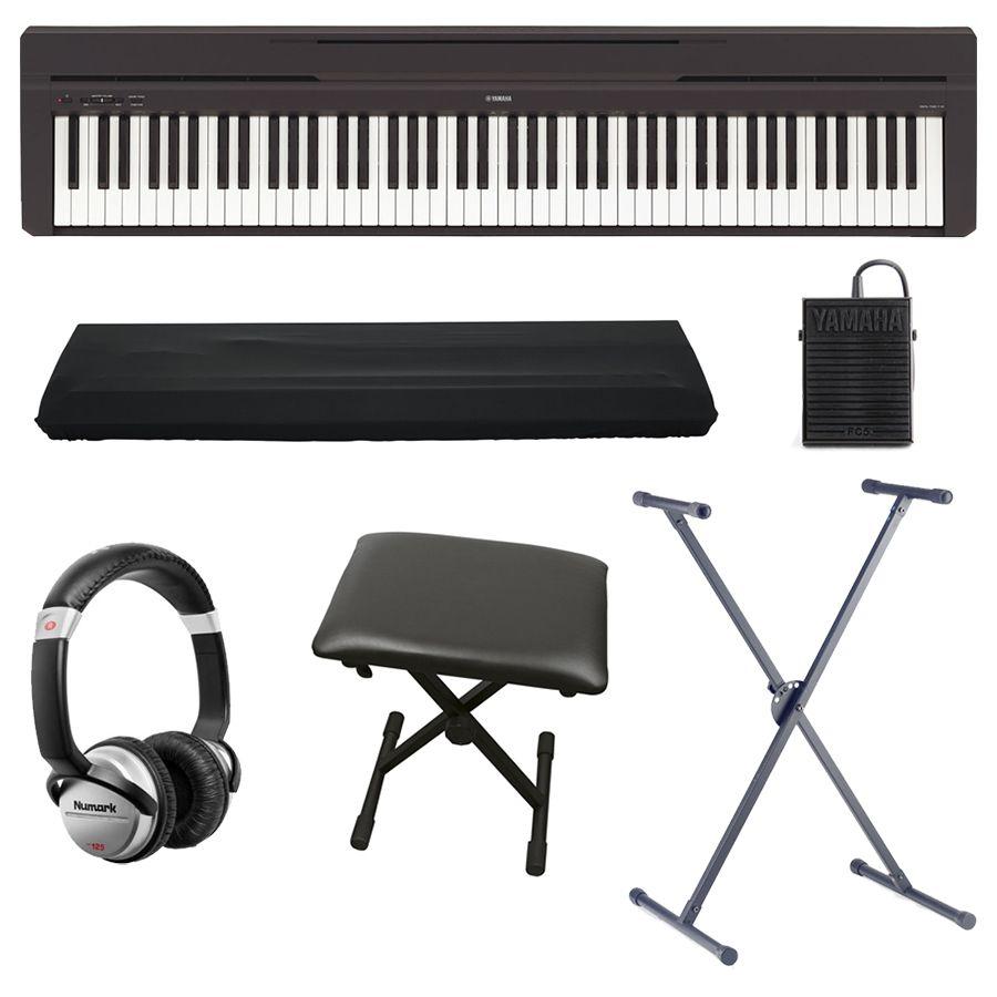 yamaha p 45b compact digital piano rtm bundle rich. Black Bedroom Furniture Sets. Home Design Ideas