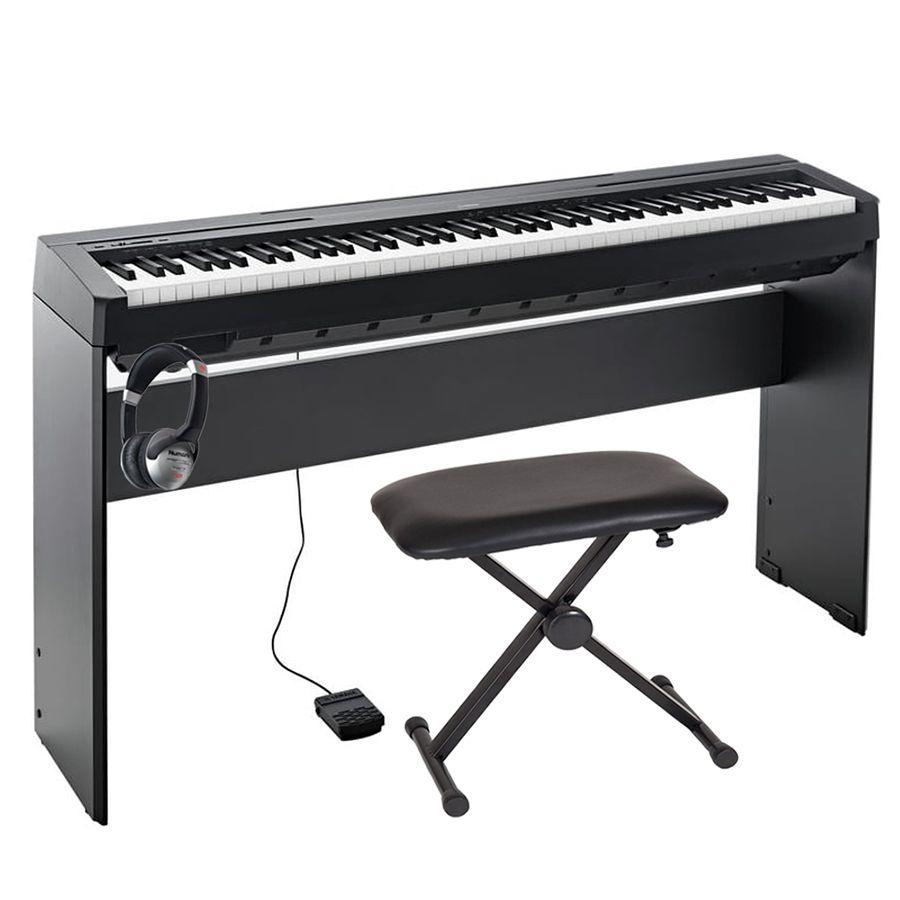 Yamaha p 45 portable piano black stand and pedal for Yamaha p 45b