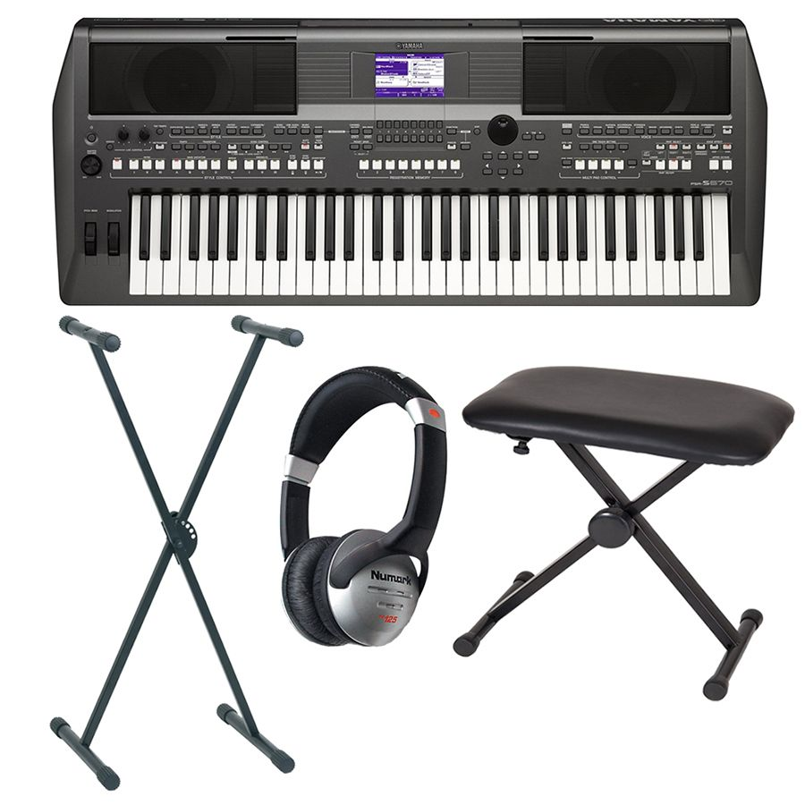 yamaha psr s670 portable keyboard package rich tone music. Black Bedroom Furniture Sets. Home Design Ideas