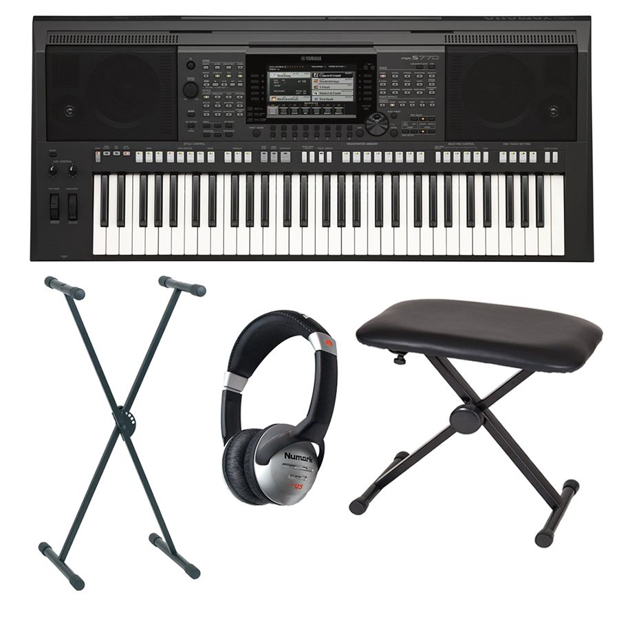 yamaha psr s770 portable keyboard package rich tone music. Black Bedroom Furniture Sets. Home Design Ideas