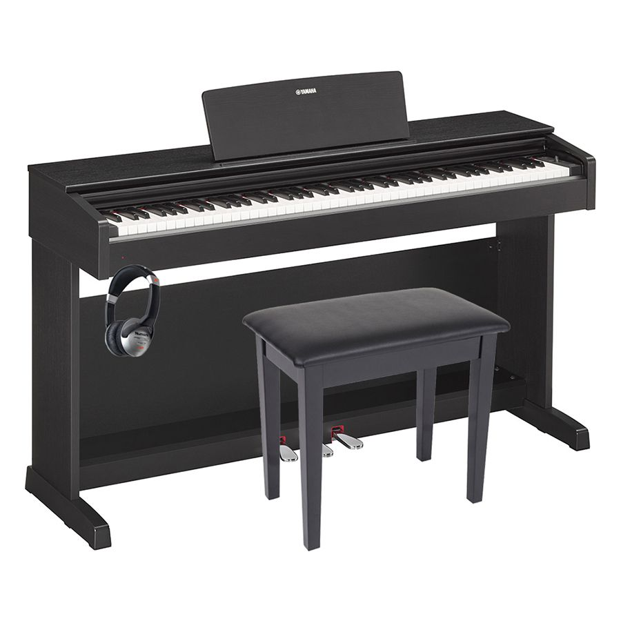 yamaha arius ydp 143 digital piano black walnut package rich tone music. Black Bedroom Furniture Sets. Home Design Ideas