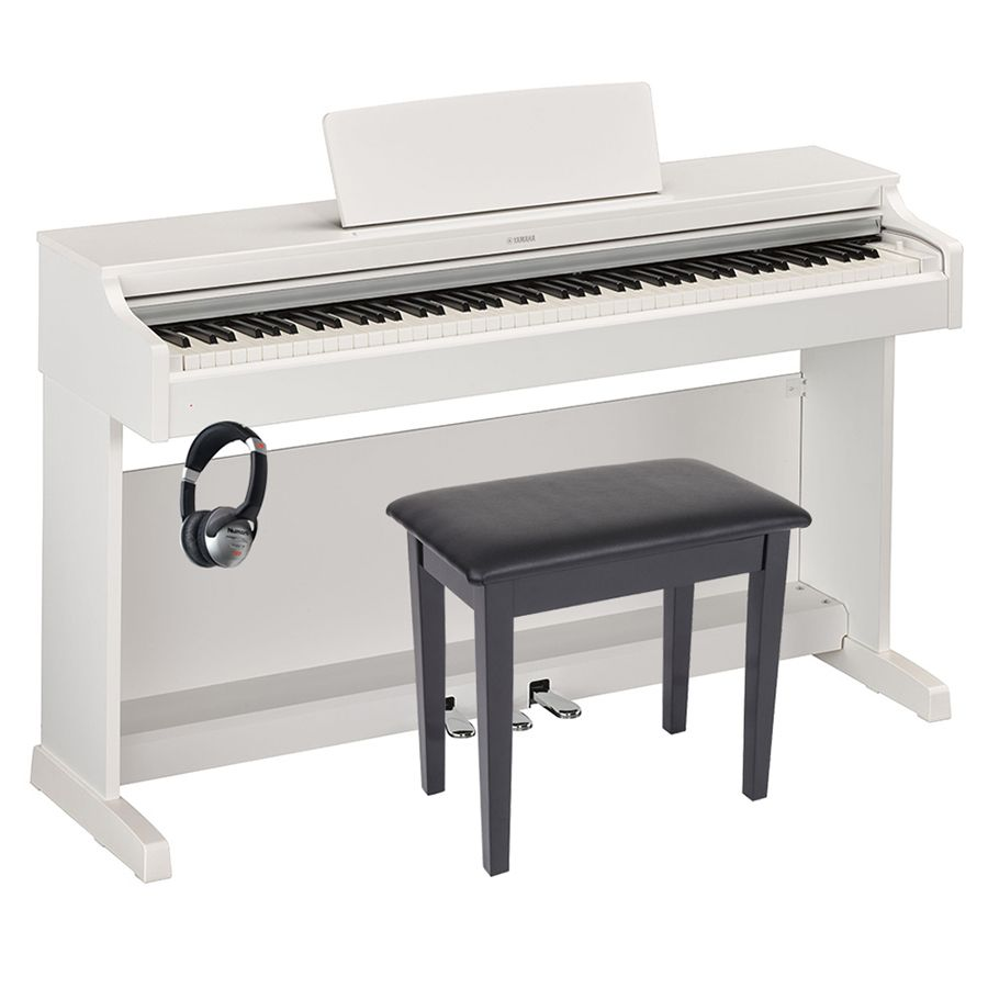 yamaha arius ydp 163 digital piano white package. Black Bedroom Furniture Sets. Home Design Ideas