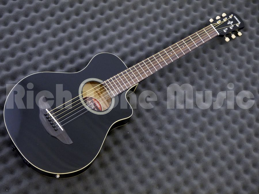 Yamaha apx t2 travel guitar black rich tone music for Yamaha apx series
