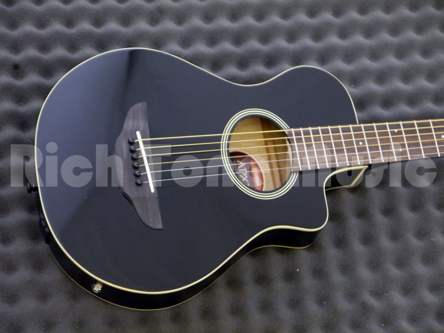 Yamaha apx t2 travel guitar black rich tone music for Apx guitar yamaha