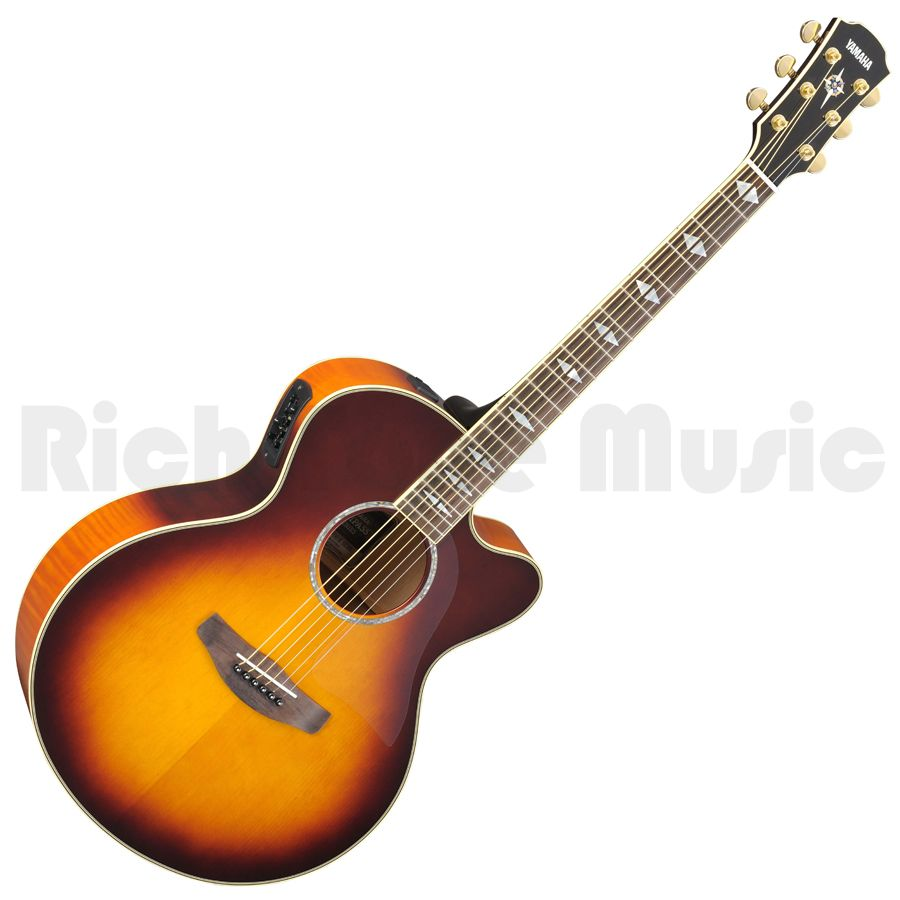 yamaha cpx1000 electro acoustic guitar brown sunburst rich tone music. Black Bedroom Furniture Sets. Home Design Ideas