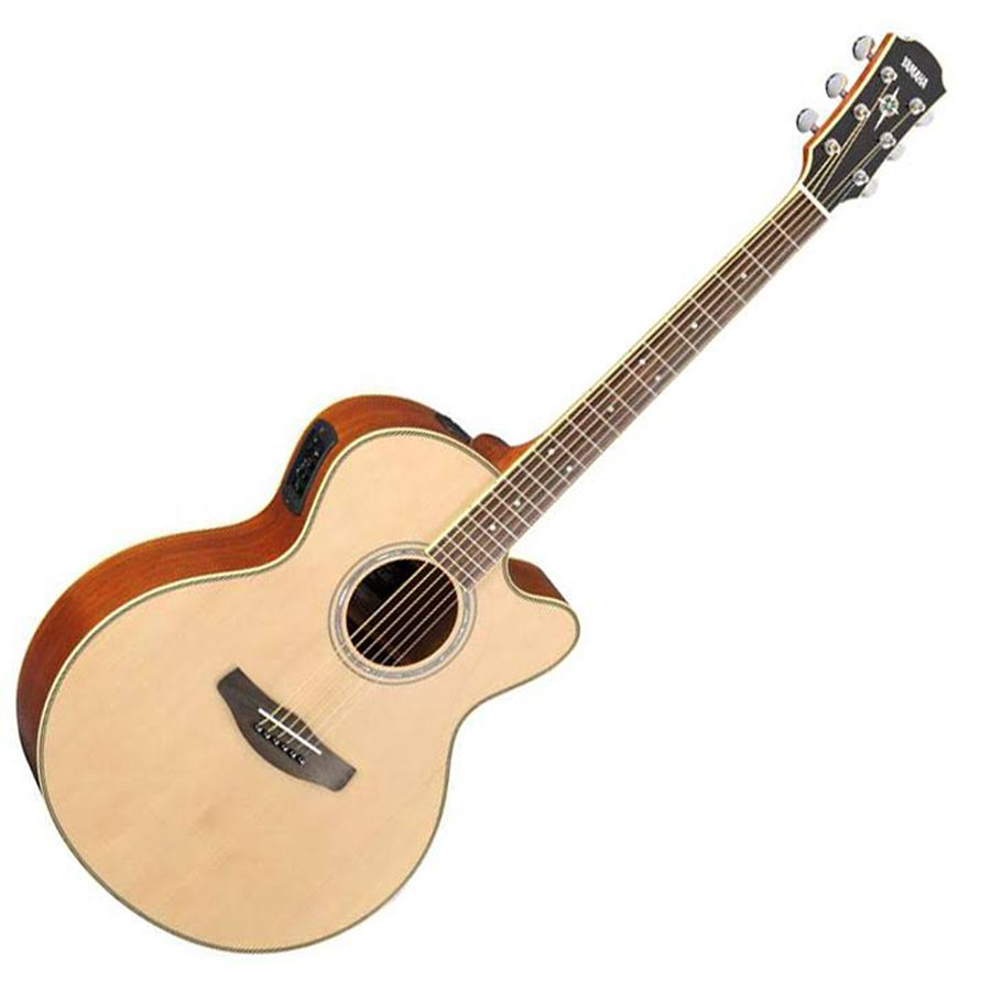 Yamaha cpx700ii acoustic guitar natural rich tone music for Yamaha classic guitar