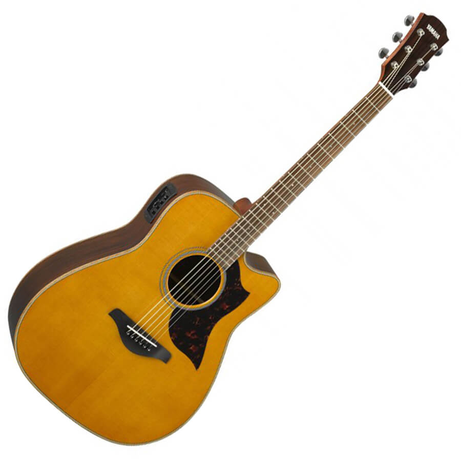 Yamaha a1r ii acoustic guitar vintage natural rich for Yamaha a5r are