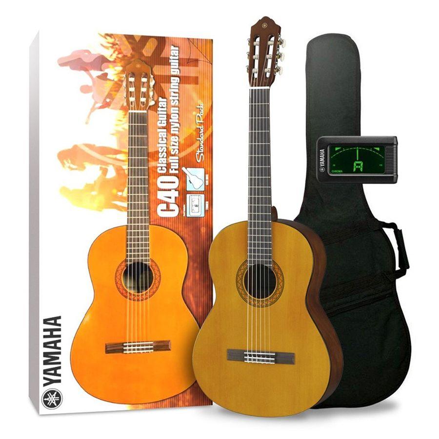 Yamaha C40II Classical Guitar Standard Pack