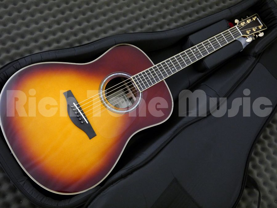 yamaha ll ta transacoustic guitar brown sunburst rich. Black Bedroom Furniture Sets. Home Design Ideas