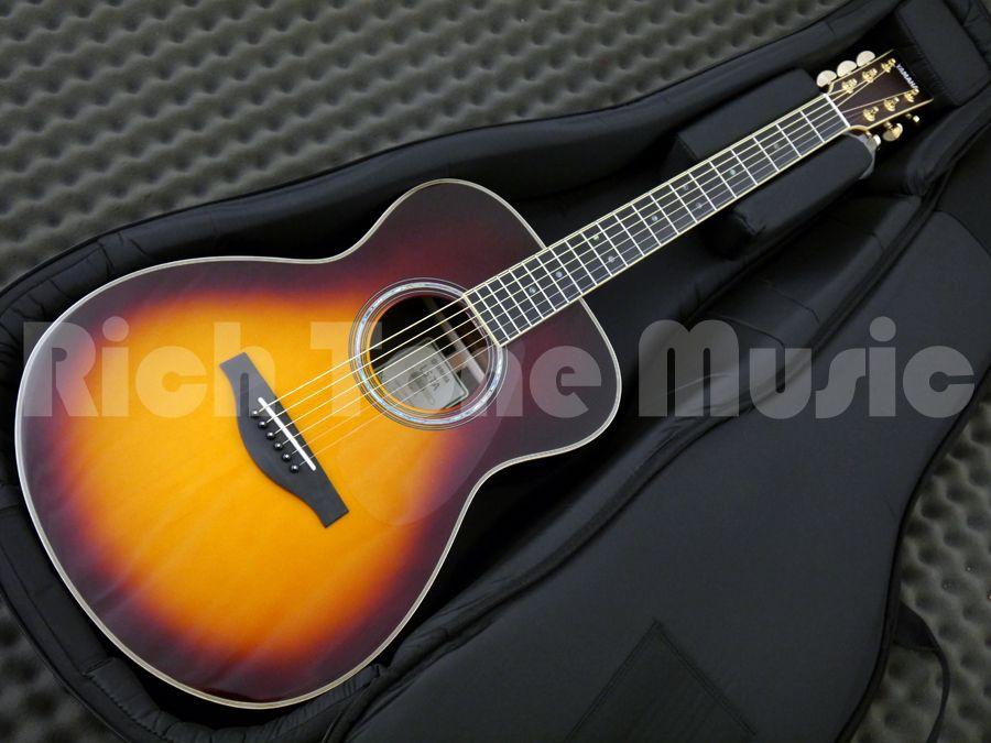 Yamaha ls ta transacoustic guitar brown sunburst rich for Yamaha ls ta