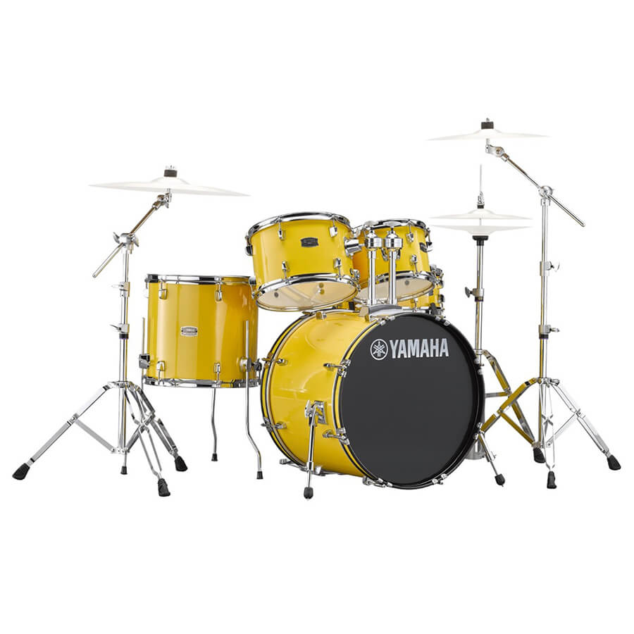 yamaha rydeen 22 drum kit with hardware mellow yellow rich tone music. Black Bedroom Furniture Sets. Home Design Ideas