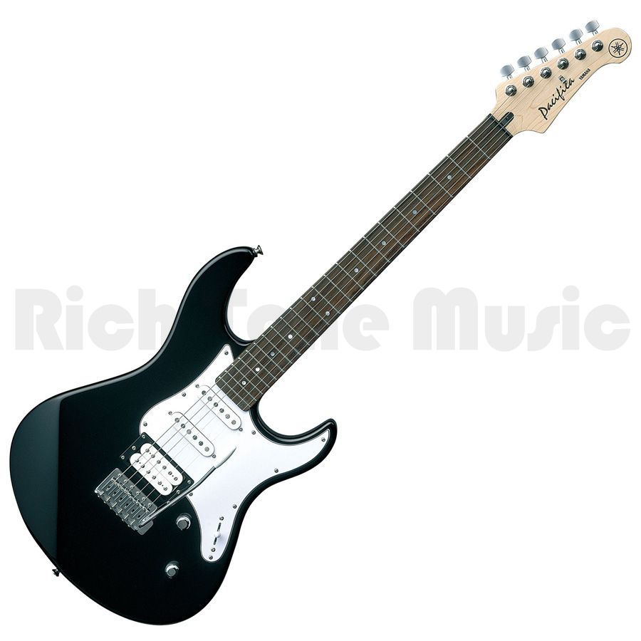 Yamaha pacifica 112v electric guitar black rich tone music for Yamaha pacifica 112 replacement parts
