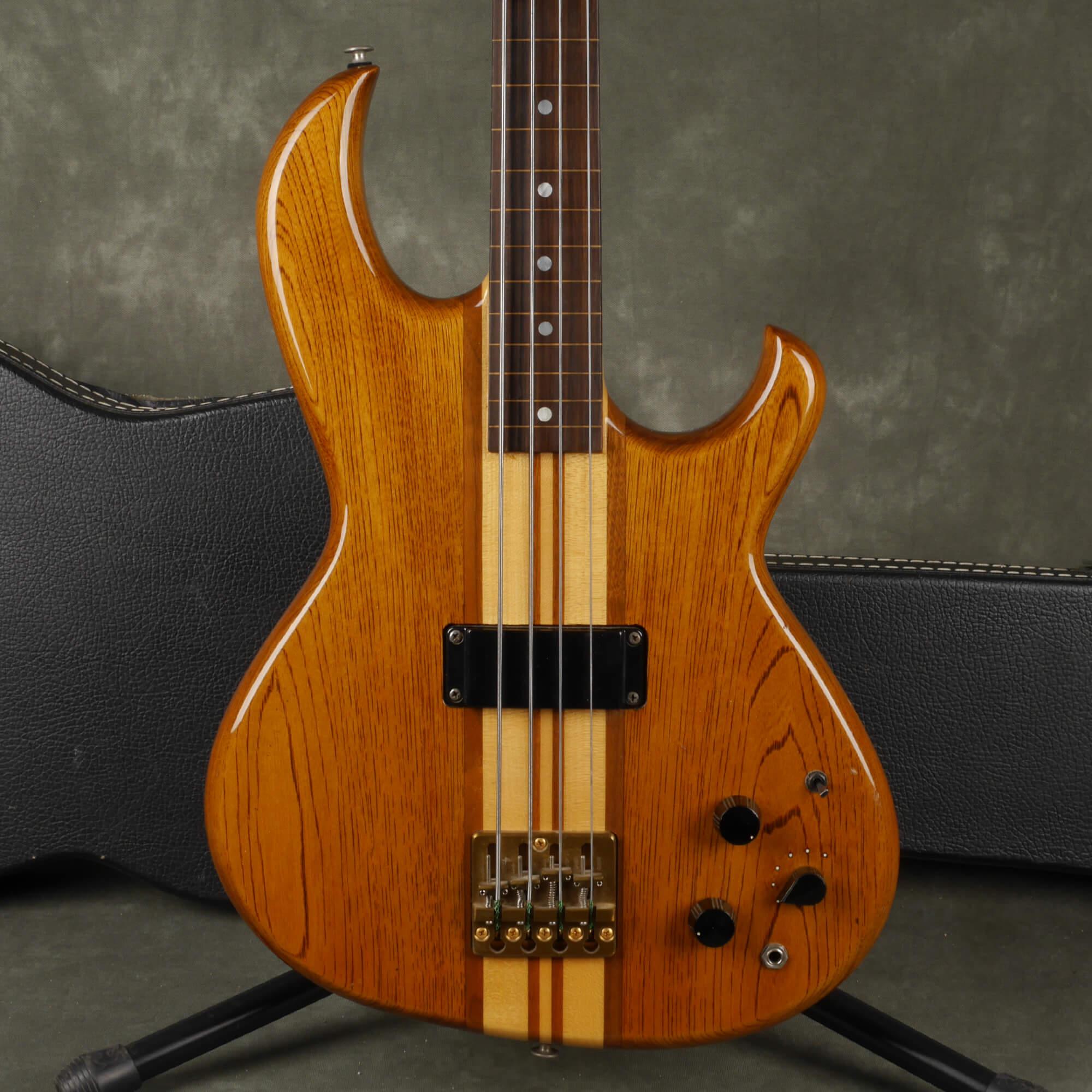 Aria Pro II SB-1000 Fretless Bass Guitar - Natural w/Hard Case - 2nd Hand