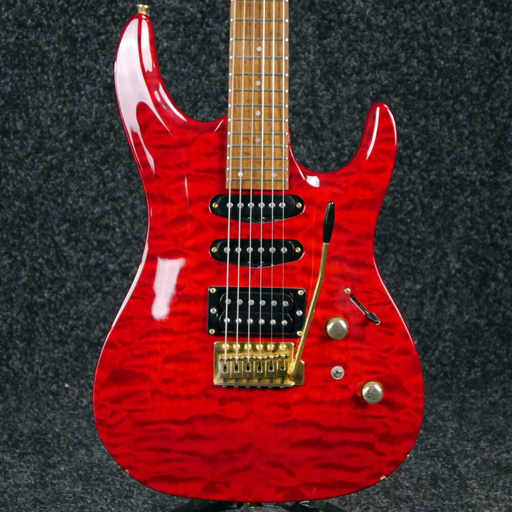 Aria Series Electric Guitar - Red Flame - 2nd Hand