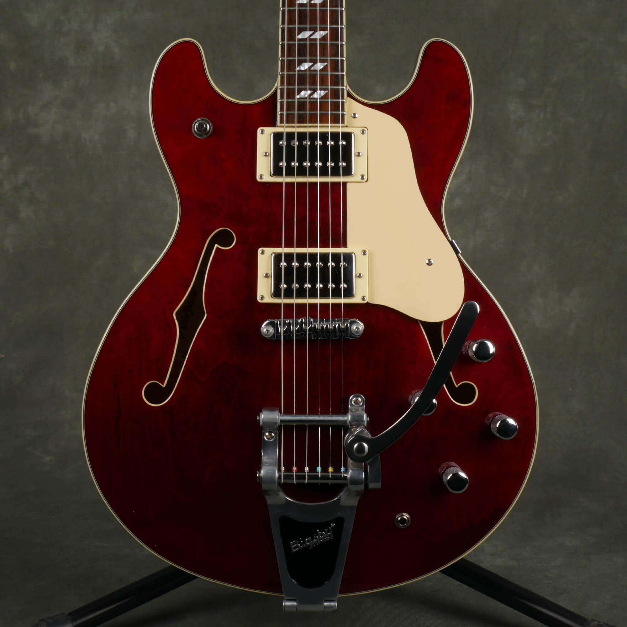Aria Pro II TA-80 Semi-Hollow Electric Guitar - Wine Red - 2nd Hand