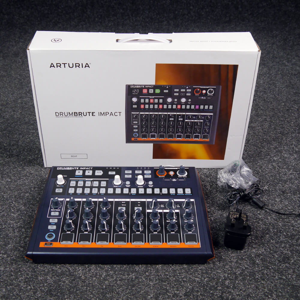 arturia drumbrute impact drum machine w box psu 2nd hand rich tone music. Black Bedroom Furniture Sets. Home Design Ideas
