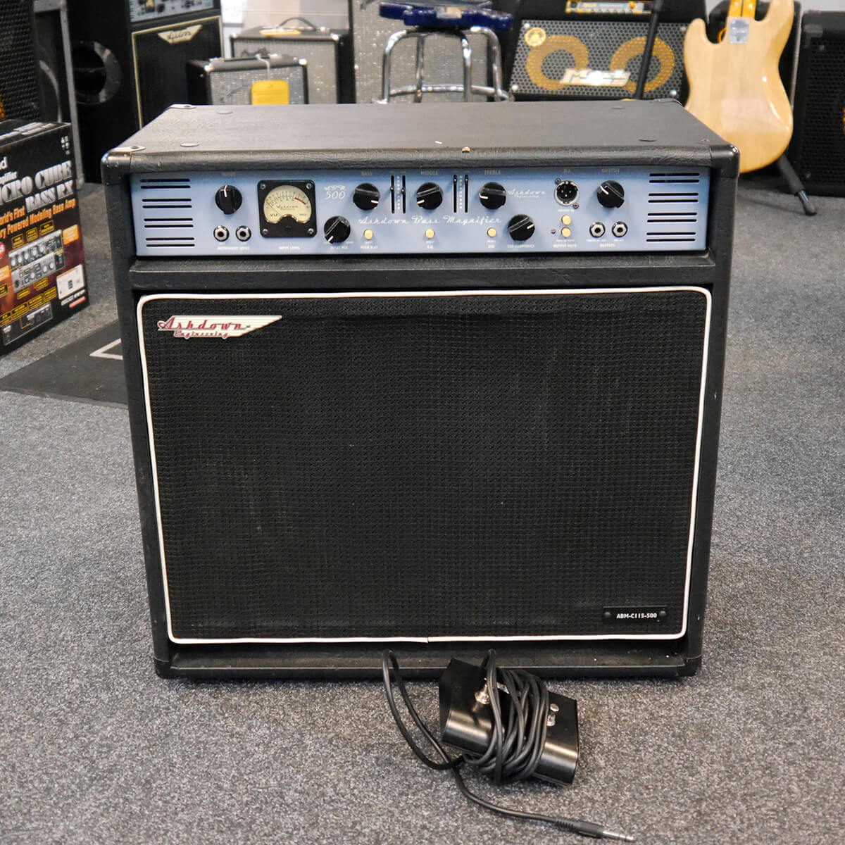 Ashdown ABM500 Bass Combo & Footswitch - 2nd Hand