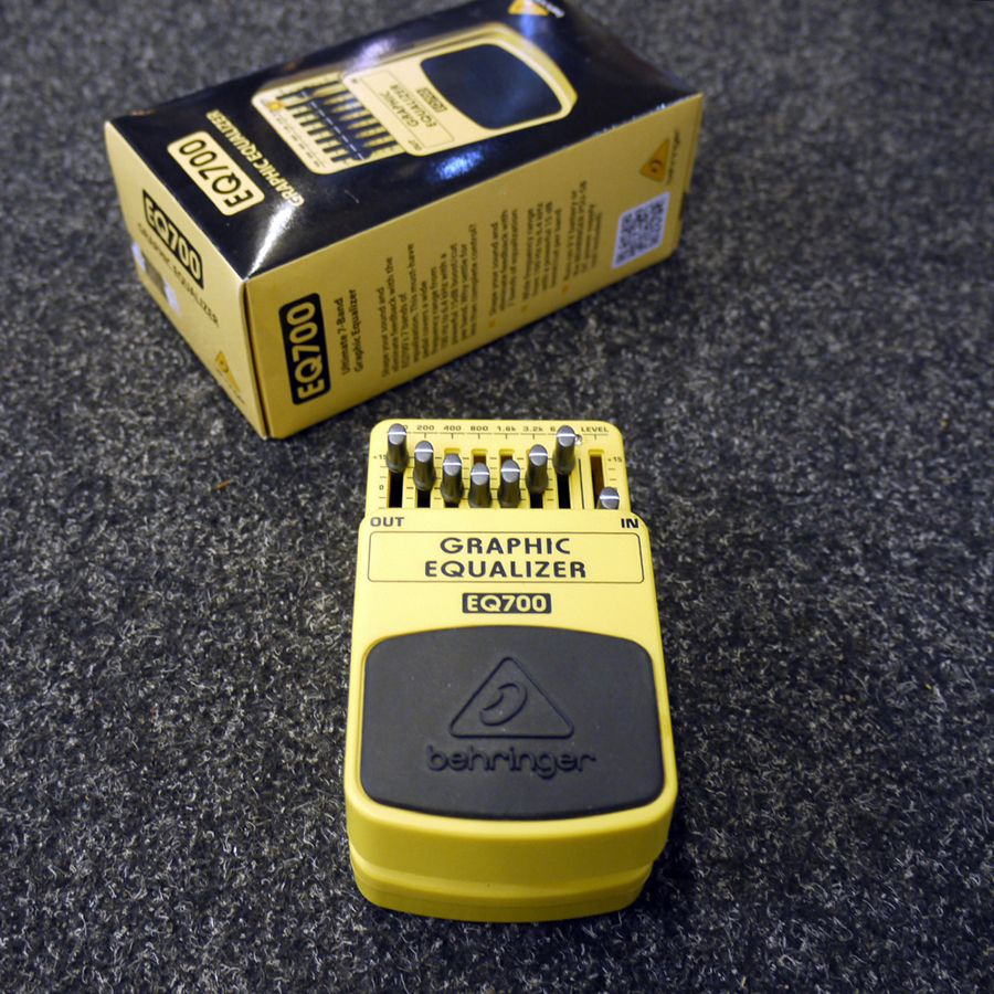 Behringer EQ700 Graphic Equalizer Pedal w/ Box - 2nd Hand