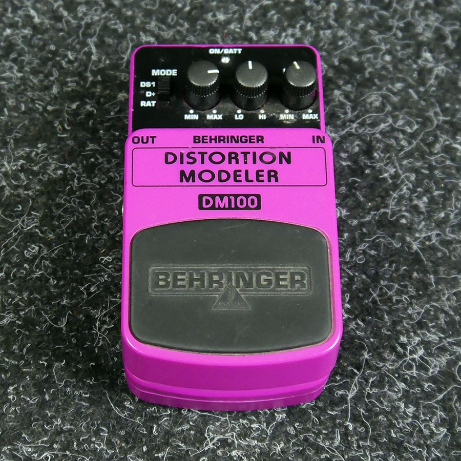 Behringer DM100 Distortion Modeler FX Pedal - 2nd Hand