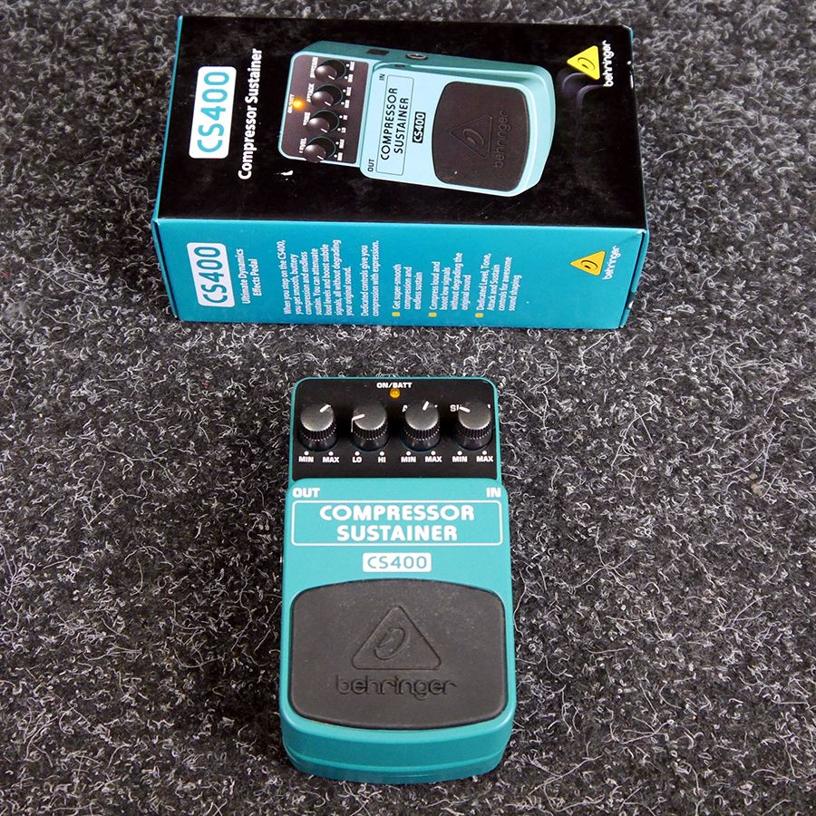 Behringer CS400 Compressor Sustainer FX pedal w/ Box - 2nd Hand