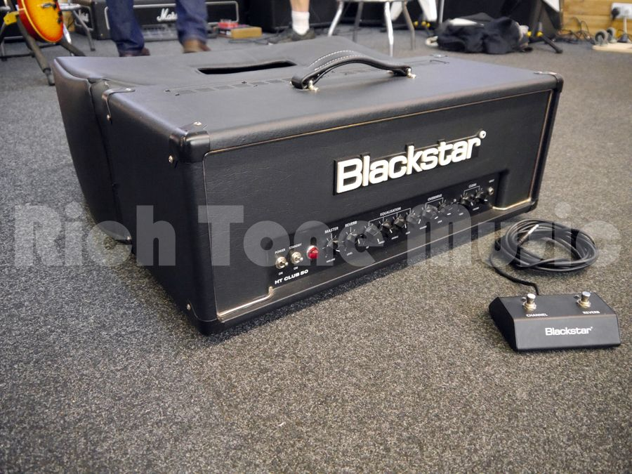 blackstar ht club 50 guitar amp head w cover footswitch 2nd hand rich tone music. Black Bedroom Furniture Sets. Home Design Ideas