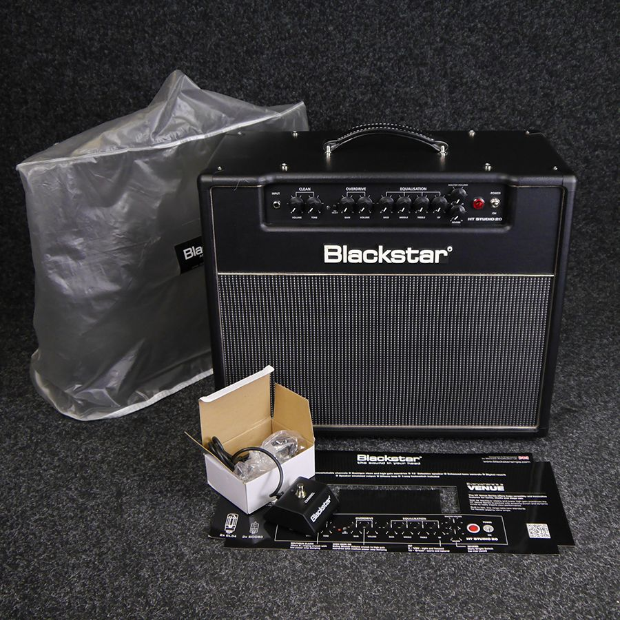 blackstar ht20 combo guitar amplifier w cover 2nd hand rich tone music. Black Bedroom Furniture Sets. Home Design Ideas