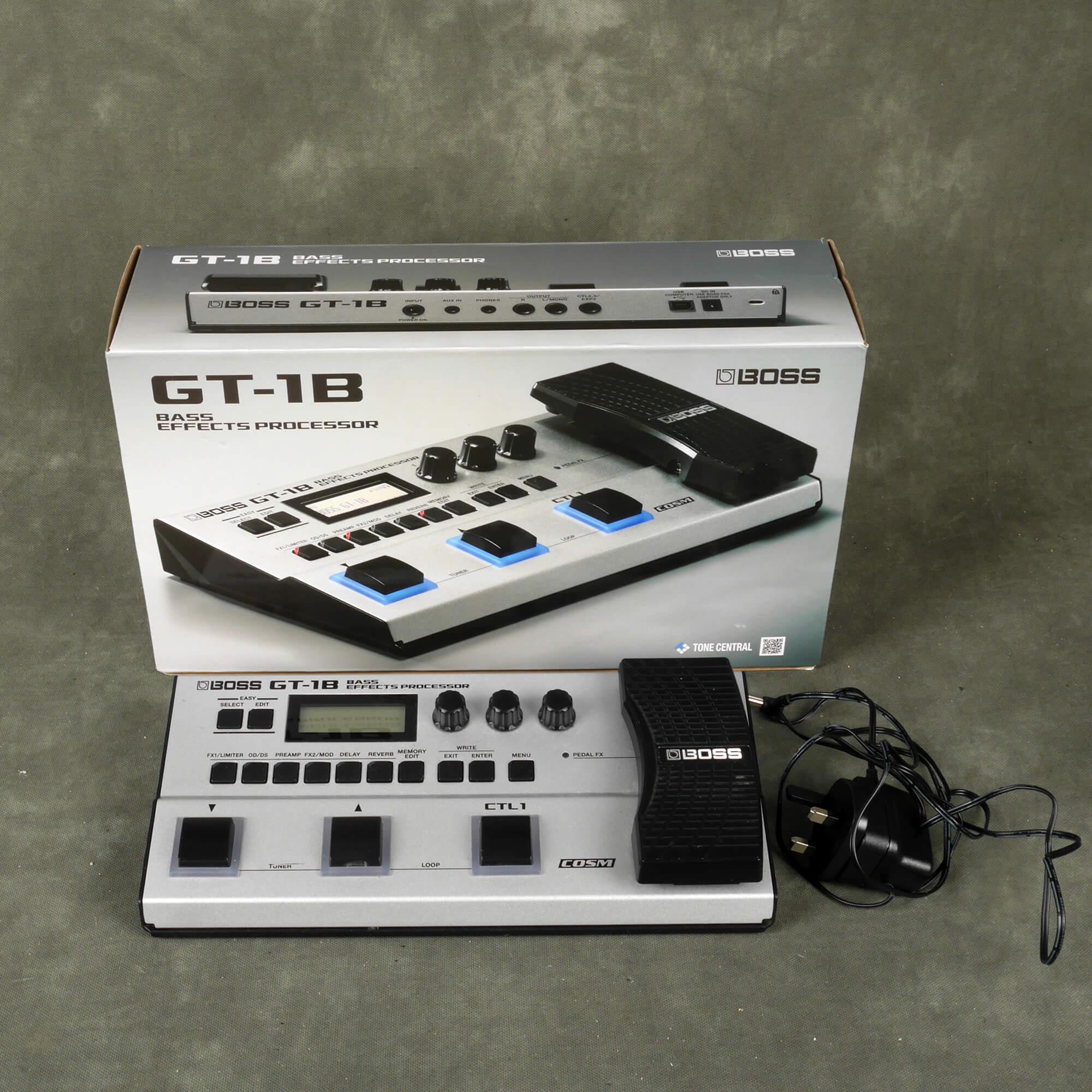Boss GT-1B Bass Modelling FX Unit w/Box & PSU - 2nd Hand