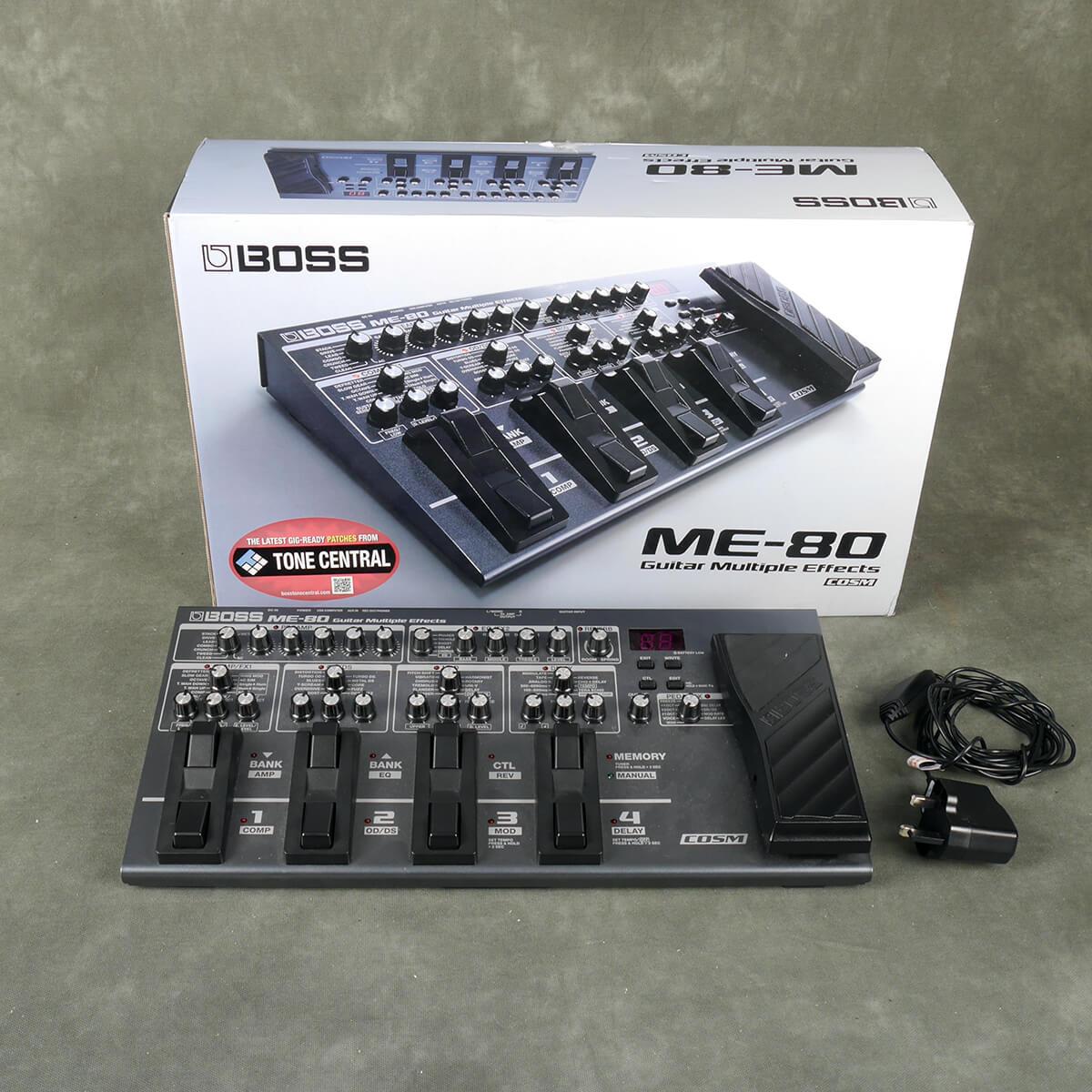 Boss ME80 Multi Effects Pedal w/Box & PSU - 2nd Hand