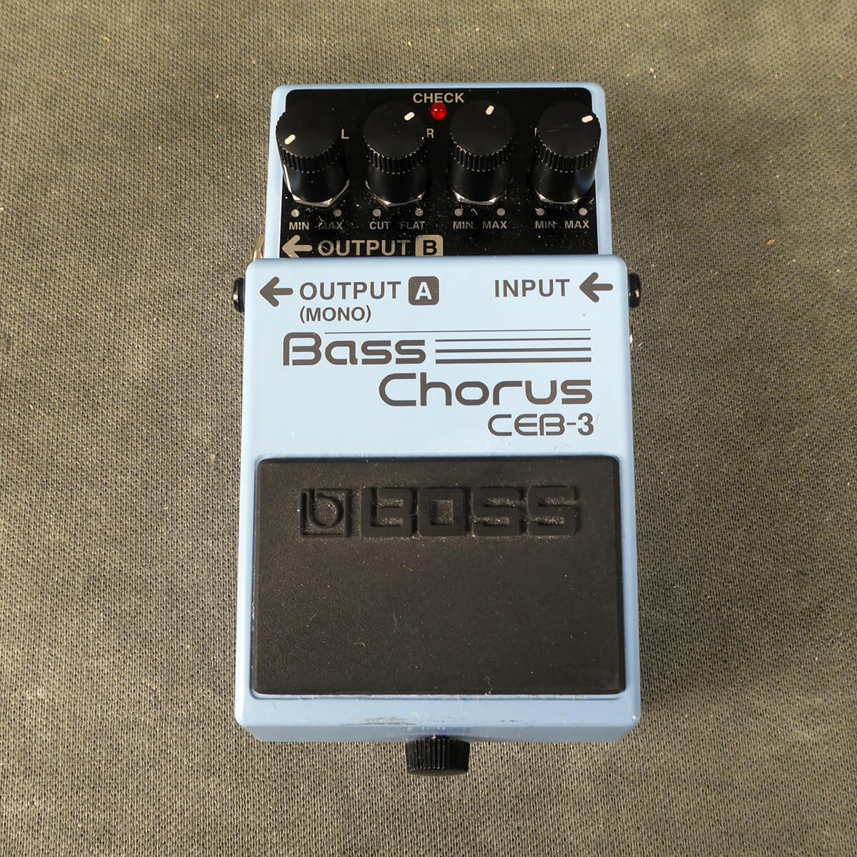 Boss CEB-3 Bass Chorus FX Pedal - 2nd Hand