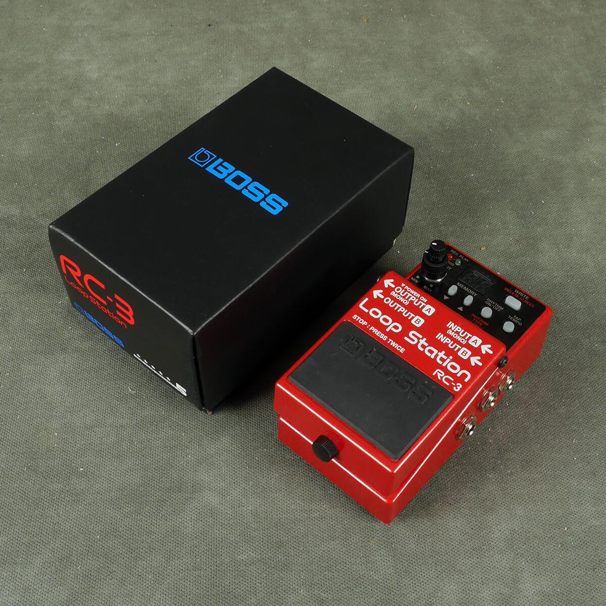 Boss RC-3 Loop Station Looper FX Pedal w/Box - 2nd Hand