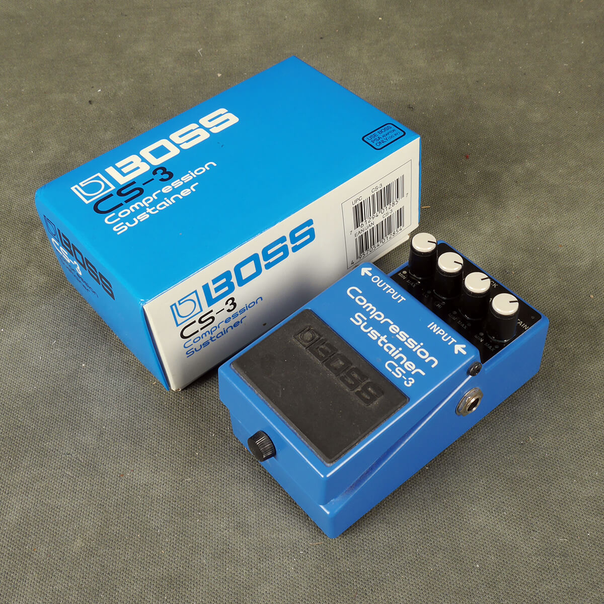 Boss CS-3 Compressor Sustainer FX Pedal w/Box - 2nd Hand