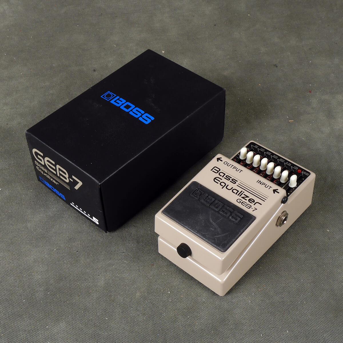 Boss GEB7 Bass EQ FX Pedal w/Box - 2nd Hand