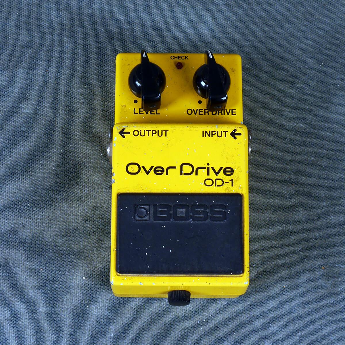 Boss OD-1 MIJ Black Label Overdrive FX Pedal - 2nd Hand