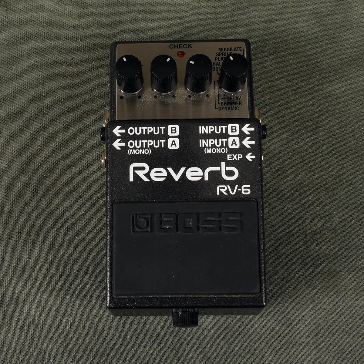 Boss RV-6 Reverb FX Pedal - 2nd Hand
