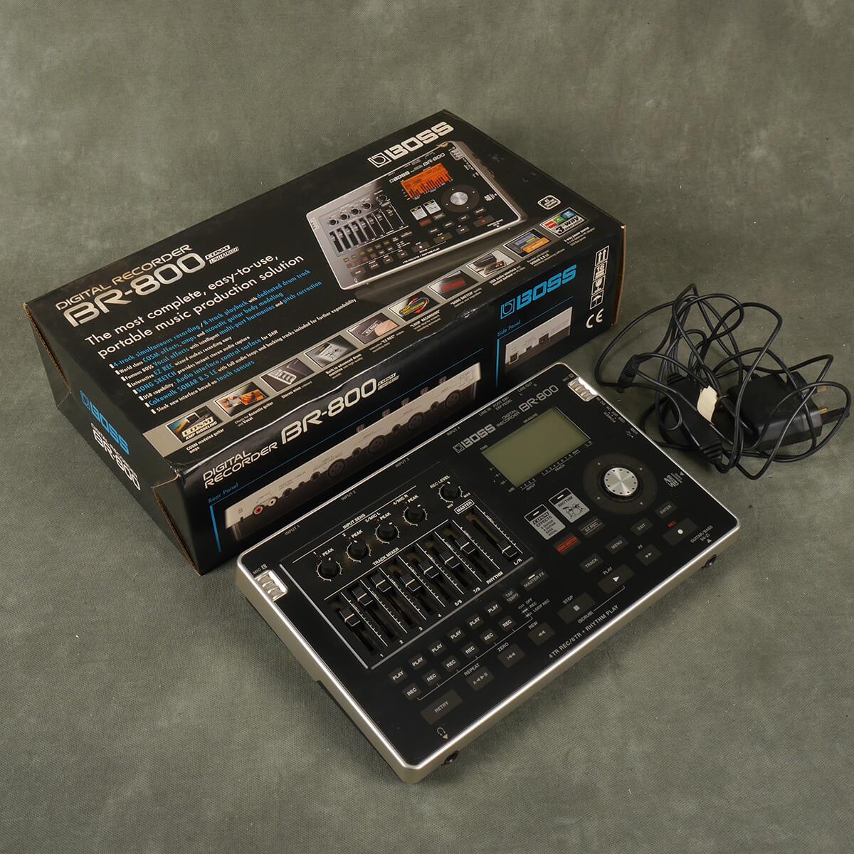 Boss BR-800 8-Track Audio Recorder w/Box & PSU - 2nd Hand