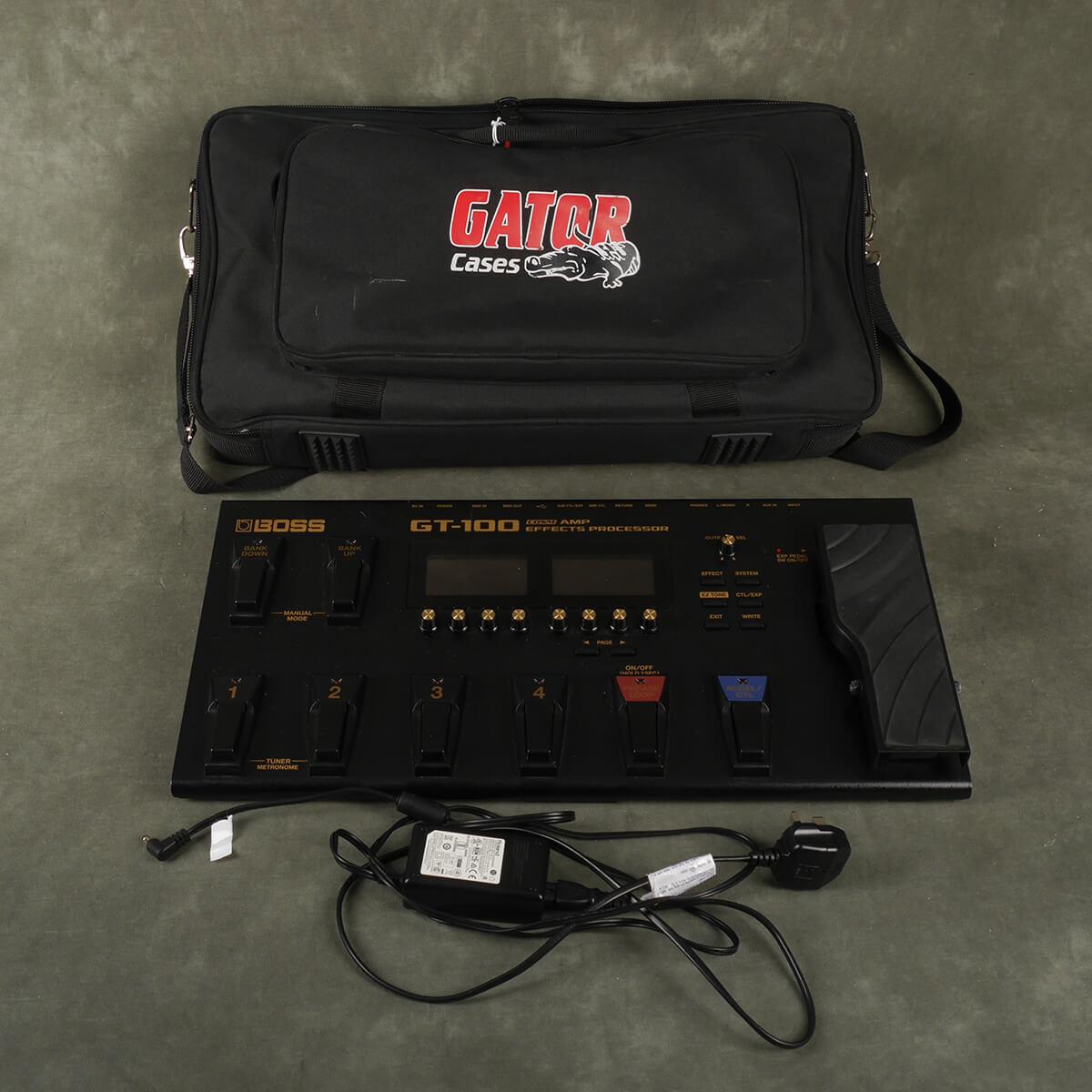 Boss GT-100 Multi FX & PSU w/Gig Bag - 2nd Hand